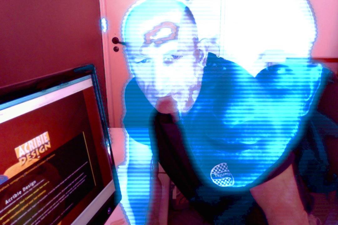 neon webdesign effect